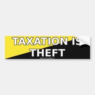 Los impuestos son hurto - pegatina para el