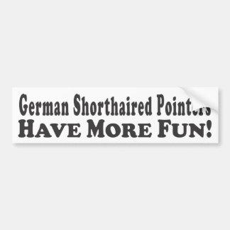 ¡Los indicadores de pelo corto alemanes se diviert Etiqueta De Parachoque