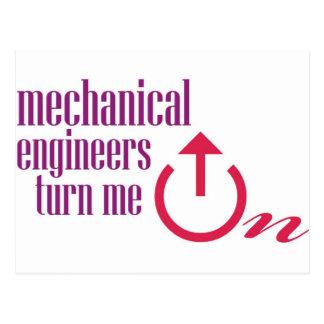 Los ingenieros industriales me giran postal