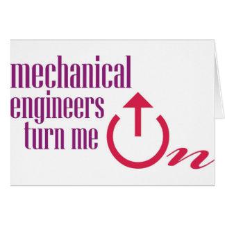 Los ingenieros industriales me giran tarjeta de felicitación