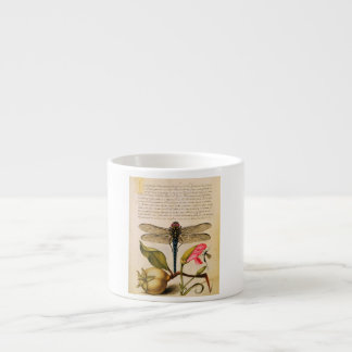 Los insectos antiguos, flores, dan fruto Hoefnagel Taza Espresso