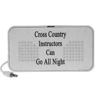 Los instructores del campo a través pueden ir toda altavoz de viajar