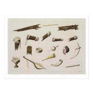 Los instrumentos musicales que pertenecen al negro postal