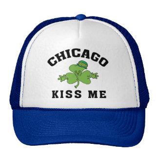 Los irlandeses de Chicago me besan Gorros Bordados