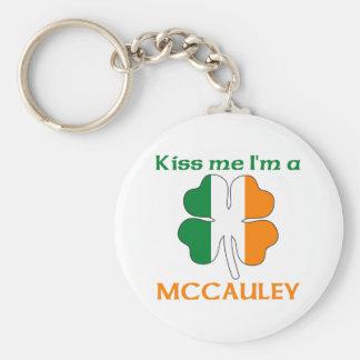 Los irlandeses personalizados me besan que soy Mcc Llavero Redondo Tipo Chapa