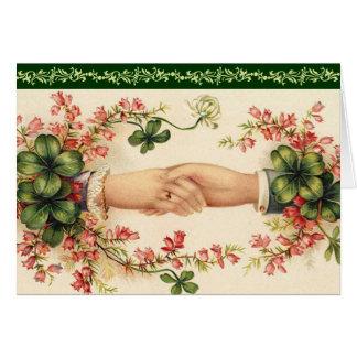 Los irlandeses románticos ahorran las tarjetas de