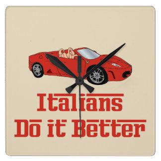 Los italianos divertidos mejora el reloj de pared