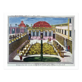 Los jardines del parque del mirabel, Salzburg, Postal
