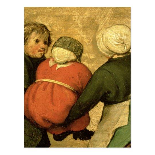 Los juegos de los niños: detalle de un niño postal