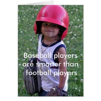 Los jugadores de béisbol son más elegantes que tarjeta de felicitación