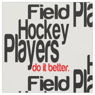 Los jugadores de hockey hierba mejora telas