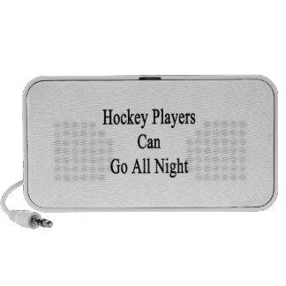 Los jugadores de hockey pueden ir toda la noche