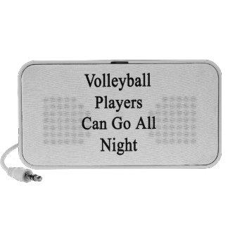 Los jugadores de voleibol pueden ir toda la noche PC altavoces