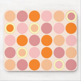 Los KRW refrescan puntos rosados y anaranjados Alfombrilla De Ratón