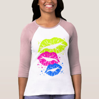 Los labios del vintage del tigre 80s de Corey y Camiseta