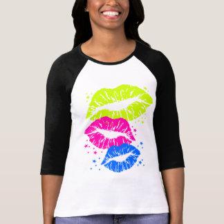 Los labios del vintage del tigre 80s de Corey y Camisetas