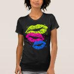 Los labios del vintage del tigre 80s de Corey y pr Camiseta