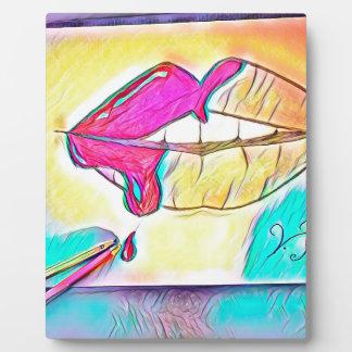 Los labios mas dulces placa expositora