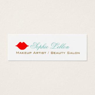 los labios rojos simples perfilan la tarjeta para