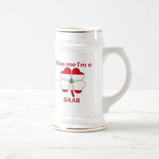 Los libaneses personalizados me besan que soy Saab Taza De Café