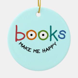 Los libros me hacen feliz ornamentos de reyes magos