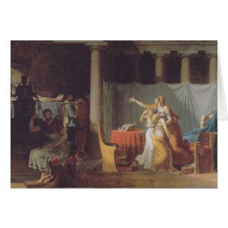 Los lictores traen al Brutus a los cuerpos de sus  Tarjeta De Felicitación