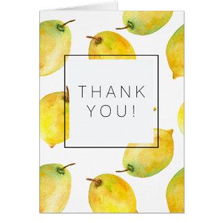 Los limones le agradecen tarjeta pequeña