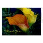 Los lirios le agradecen tarjeta de felicitación