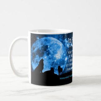 Los lobos gritan en la Luna Llena, con enseñanzas Taza De Café