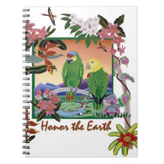 Los loros del Amazonas - honre la tierra Libreta Espiral