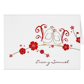 Los Lovebirds le agradecen las tarjetas/Tarjetas d