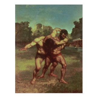 Los luchadores, 1853 postal
