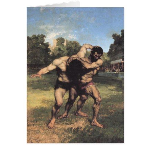 Los luchadores tarjeta