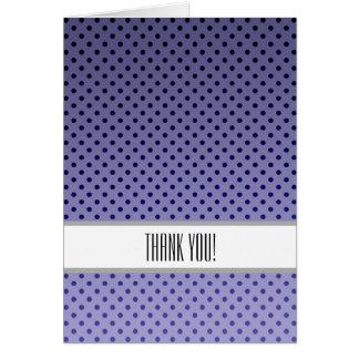 Los lunares púrpuras le agradecen tarjeta pequeña