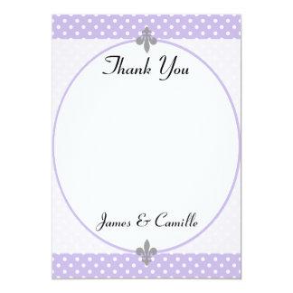 Los lunares violetas populares le agradecen invitación 12,7 x 17,8 cm