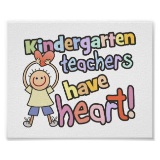 Los maestros de jardín de infancia tienen corazón impresiones