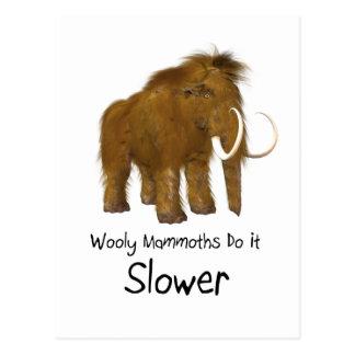 Los mamuts lanosos lo hacen más lento postal