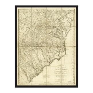 Los marzos de señor Cornwallis Map (1787) Impresión En Lienzo