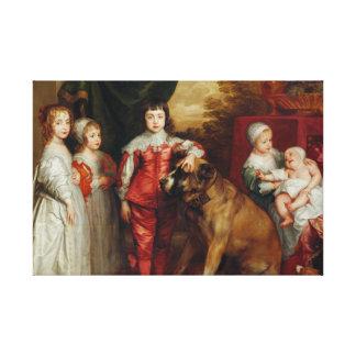 Los más viejos niños de Anthony van Dyck- cinco de Impresión En Lienzo