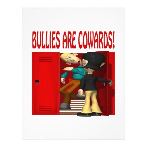 Los matones son cobardes tarjeton