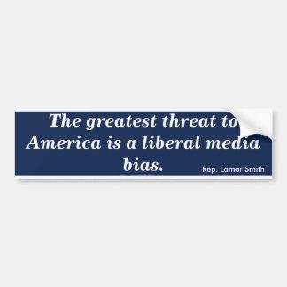 Los medios liberales perjudican (Smith) Pegatina Para Coche