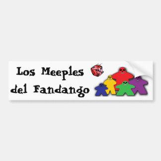 Los Meeples del Fandango Pegatina De Parachoque