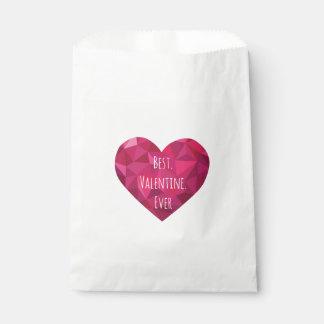 Los mejores bolsos del favor de la tarjeta del día bolsa de papel