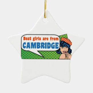 Los mejores chicas son de Cambridge Adorno De Cerámica