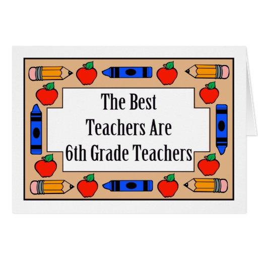 Los mejores profesores son 6tos profesores del gra tarjeta