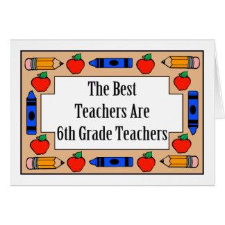 Los mejores profesores son 6tos profesores del gra tarjeta de felicitación