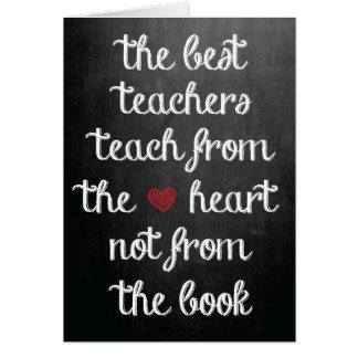 Los mejores profesores tarjeta de felicitación