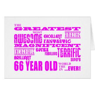 Los mejores sesenta y seis chicas: 66 años más tarjeta de felicitación