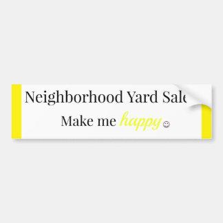Los mercadillos caseros de la vecindad me hacen el pegatina para coche