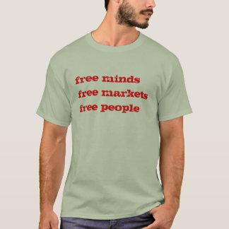 los mercados libres de las mentes libres liberan a camiseta